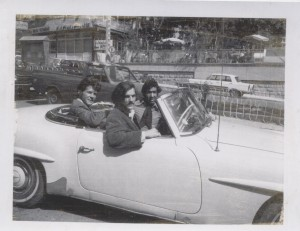 Mark Fischer and Bill McGuire drive with Ghassem Erefani in Tehran, 1973.