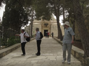 We walked to the chapel at Beit Sahour, the place of the shepherds.