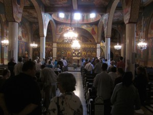 Mass was celebrated in Arabic at the Greek Catholic Patriarchate.