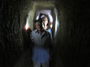 We waded through Hezekiah's tunnel.