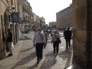 Omar Ben el-Khatab street leads into the Old City.