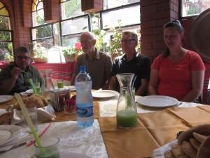 We ate in modern Jericho's Limona Restaurant.