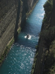 The Corinth canal saves ships a 136-mile detour.