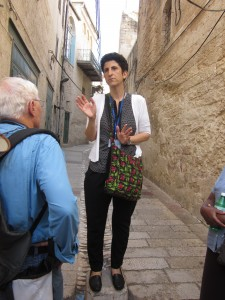 Ghada Boulos was our guide in the Galilee.