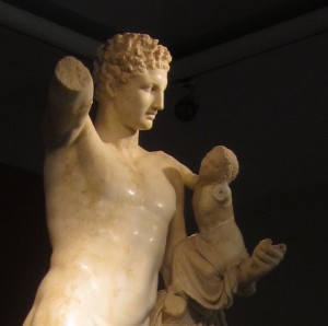 The Hermes of Praxiteles is in Olympia.
