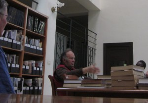 Hintlian spoke in the Library.