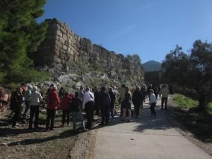 Mycenae had an enormous defensive wall.