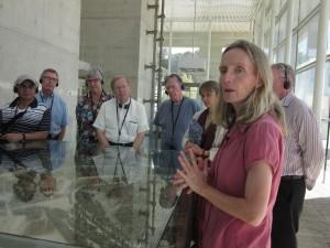 Tamar Avraham led us through the Museum.