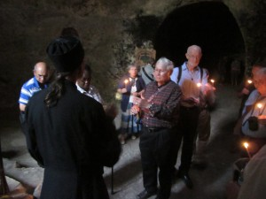 Br. Pierre explains the Tombs of the Prophets.