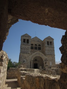 The Church of the Transfiguration is on Mt. Tabor.