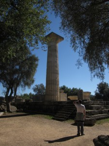 Phidias' great statue of Zeus once stood here.