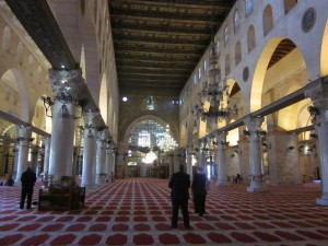 The mosque interior resembledf Byzantine architecture.