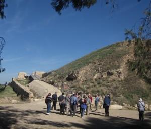 An Assyrian siege ramp climbs Tel Lakhish.